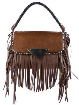 Sara Battaglia Medium Fringe Amber Shoulder Bag