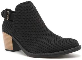 Qupid Black Perforated Tobin Ankle Boot - Women