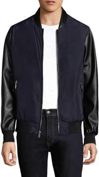 Karl Lagerfeld Men's Ribbed Bomber Jacket