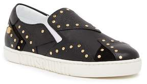 Moschino Studded Leather Slip On Sneaker