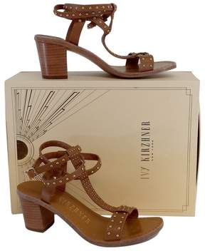 Ivy Kirzhner Cognac Olympian Studded Sandal Heels