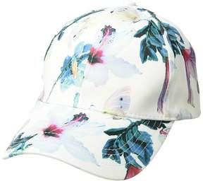Collection XIIX Tropical Floral Satin Baseball Baseball Caps
