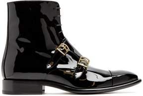 Jil Sander Monk-strap patent-leather ankle boots