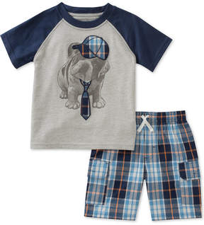 Kids Headquarters 2-Pc. Graphic-Print T-Shirt & Shorts Set, Little Boys