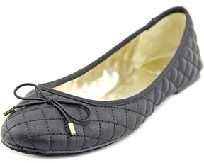 Material Girl Fifi Women Round Toe Synthetic Black Flats.