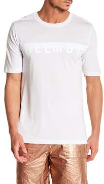 Helmut Lang Short Sleeve Half Logo Tee