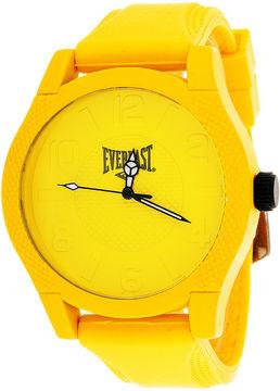 Everlast Mens Yellow Silicone Strap Sport Watch