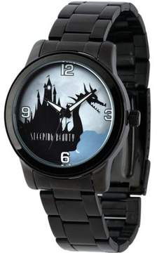 Disney Maleficent Men's Casual Alloy Watch, Black Bracelet