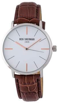 Ben Sherman Men's Quartz Leather Strap Watch, 40mm