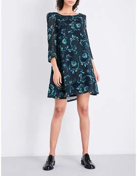 Claudie Pierlot Floral-print chiffon mini dress