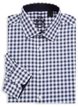 English Laundry Check Cotton Dress Shirt