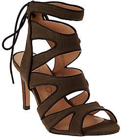 Sole Society Canvas Cut-out Sandals - Stella