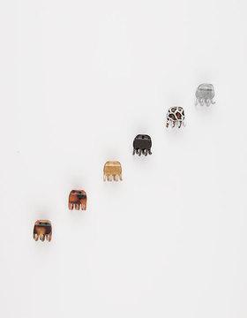 6 Pack Mini Hair Clips