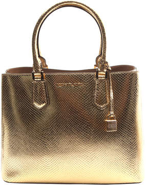 Michael Kors Pale Gold & Dark Khaki Embossed Leather Tote - PALE - STYLE