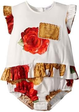 Dolce & Gabbana Biscotti Print Romper Girl's Jumpsuit & Rompers One Piece