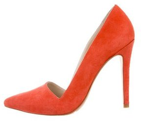 Alice + Olivia Pointed-Toe Suede Pumps