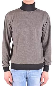 Armani Collezioni Men's Grey/black Cotton Sweater.