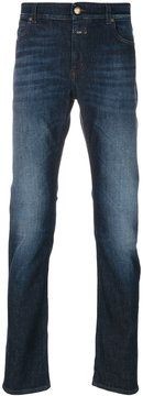 Closed roll up slim-fit jeans