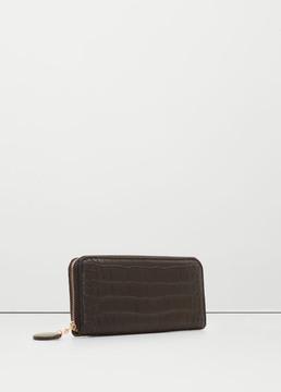 MANGO OUTLET Croc-effect wallet
