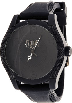 Everlast Mens Black Silicone Strap Sport Watch