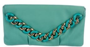 Michael Kors Chain Envelope Clutch - GREEN - STYLE