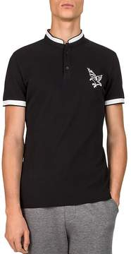 The Kooples Cuba Embroidered Piqué Slim Fit Polo