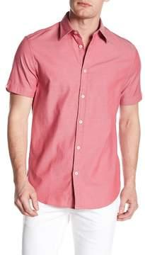 Ben Sherman Short Sleeve Stretch Oxford Woven Regular Fit Shirt