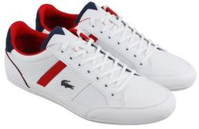Lacoste Chaymon 218 1 Cam White Navy Mens Lace Up Sneakers
