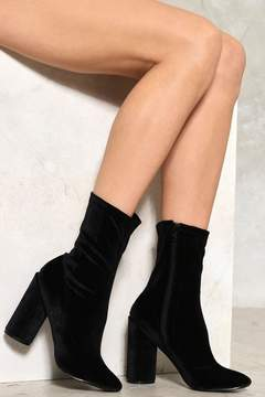 Nasty Gal Out of Touch Velvet Boot
