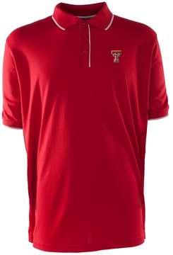 Antigua Men's Texas Tech Red Raiders Elite Desert Dry Xtra-Lite Pique Polo
