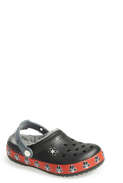 Crocs Star Wars Darth Vader Faux Fur Clog (Toddler & Little Kid)