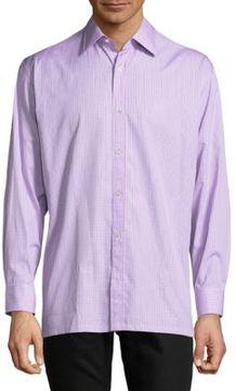 Charvet Printed Cotton Casual Button-Down Shirt