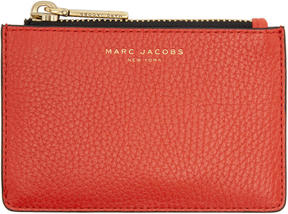 Marc Jacobs Red Gotham Zip Card Holder - RED - STYLE