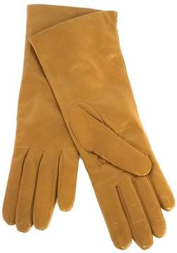 Neiman Marcus Tan Leather Gloves