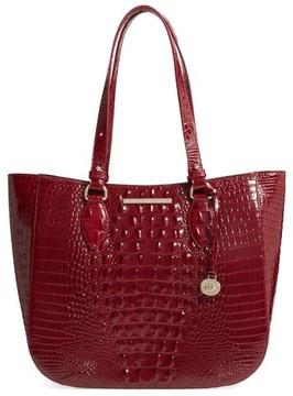 Brahmin Melbourne - Medium Lena Leather Tote - Red