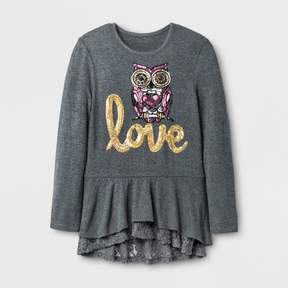 Miss Chievous Girls' Long Sleeve Top - Black