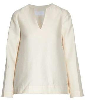 Co Wool Cotton Silk And Cashmere-Blend Top