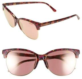 Smith Women's 'Rebel' 57Mm Cat Eye Sunglasses - Flecked Tortoise/ Rose Gold