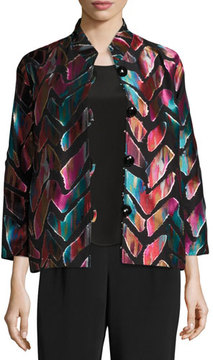 Caroline Rose Vivid Dreams Jacquard Bracelet-Sleeve Jacket