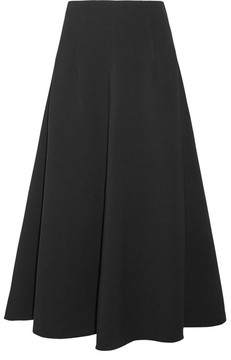 Elizabeth and James Glendon Stretch-ponte Midi Skirt - Black