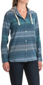 Dakine Brighton Hooded Flannel Shirt - Snap Front, Long Sleeve (For Women)