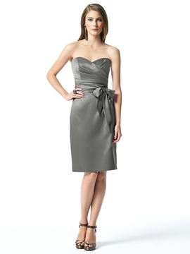 Dessy Collection 2841 Dress in Charcoal Gray