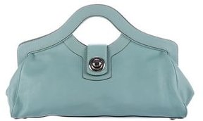 Marc Jacobs Leather Frame Bag - BLUE - STYLE