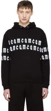 McQ Black Repeat Logo Clean Hoodie