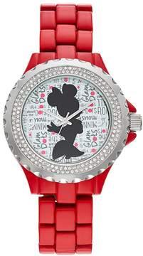 Disney Disney's Minnie Mouse Glam Dots Women's Crystal Watch