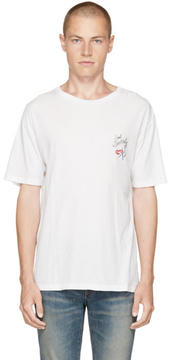 Saint Laurent White Bouche Logo T-Shirt