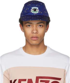 Kenzo Blue Multi Eye Print Cap