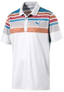 Puma Jersey Stripe Polo-Bright White-Vibrant-57220005-M