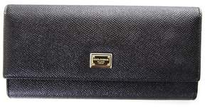 Dolce & Gabbana Dauphine Leather Wallet - BLACK - STYLE