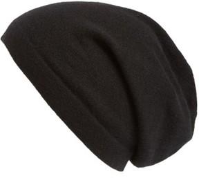 Nordstrom Cashmere Beanie - Black